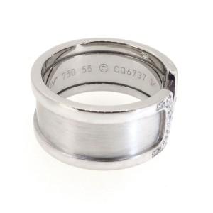 Cartier White 18k Gold De Double C Diamond Wedding Band Ring