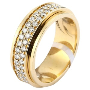18K Yellow Gold Diamond Ring Size 6