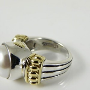 Lagos  Sterling Silver  Mabe Pearl Ring