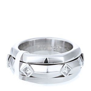 Piaget 18k White Gold Six Square Diamond Ring
