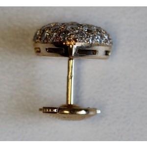Cartier 18K Yellow Pave Diamond Heart Earrings