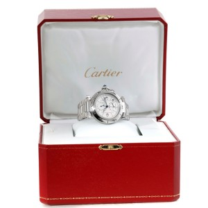 Cartier Pasha GMT W31037H3 38mm Mens Watch