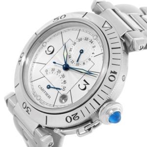 Cartier Pasha GMT W31037H3 38mm Mens Watch