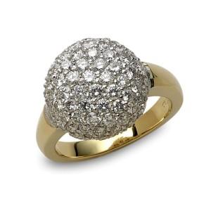 18K Yellow and White Gold Diamond Ring
