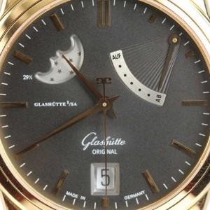 Glashutte Original Senator Power Reserve Moon Phase 18K Rose Gold 39-44-03-11-04