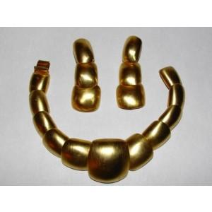 Clara Studio Abstract Link Bracelet and Earring Set