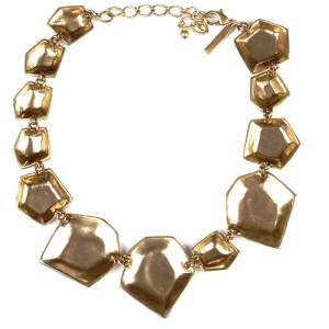 Oscar de la Renta Octagonal Finger Print Necklace