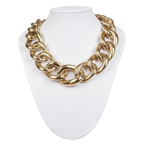 Givenchy Massive Runway Bold Gold tone Chain Necklace
