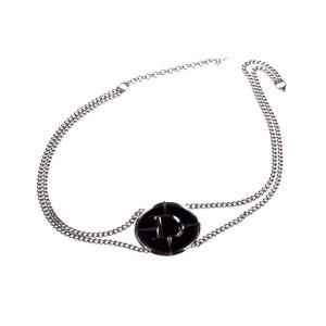 Dior Faux Black Onyx Belt Necklace