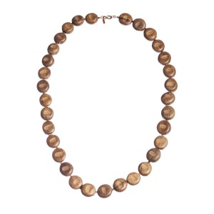 Kenneth Lane Runway Wooden Bead Flapper Necklace