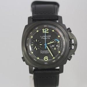 Panerai Pam 332 PVD Split Chronograph Regatta Watch