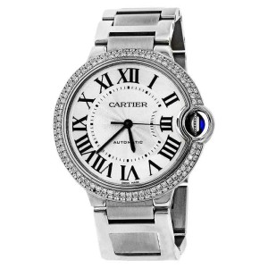 cartier ballon bleu w6920046 pave diamond bezel automatic mid size watch cartier buy at. Black Bedroom Furniture Sets. Home Design Ideas