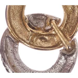 Givenchy Double Hoop Rhinestone Earrings