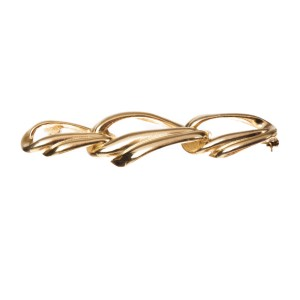 Givenchy Triple Interlocking Circles Bar Pin