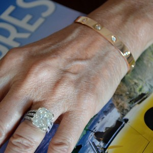 Cartier 18K Rose Gold Love Bracelet Diamonds Size: 17