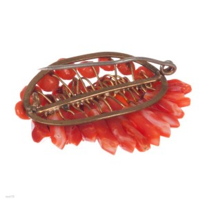 Victorian Red Coral Picks and Berry Brooch
