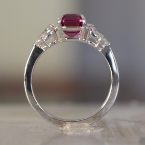 Platinum Pink Sapphire & Diamond Engagement Ring