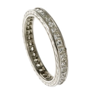 Platinum with Diamond Eternity Ring Size 6.25