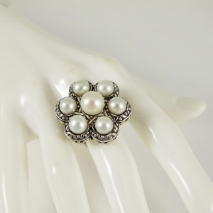 John Hardy  Sterling Silver  Pearl Ring