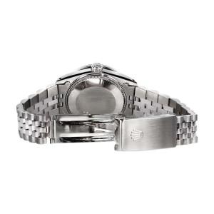 Rolex Datejust Blue Color Roman Numeral Dial Ruby & Diamonds Bezel Women's 31mm Watch