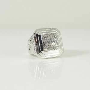 John Hardy  Sterling Silver .46tcw Diamond Ring