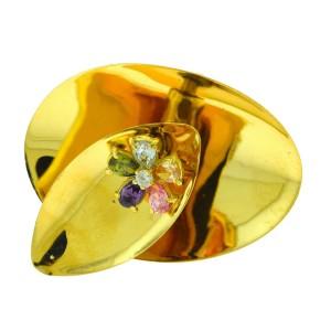 Monet Yellow Gold Womens Ring