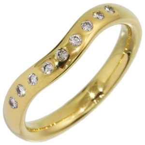 Tiffany & Co. Peretti 18K Yellow Gold Diamond Ring Size 4.75