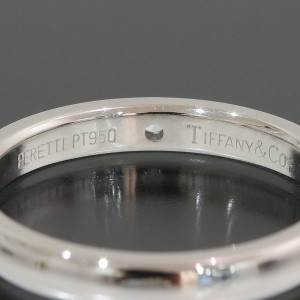 Tiffany & Co. Peretti Platinum Diamond Ring Size 6.5