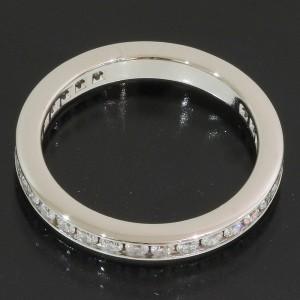 Tiffany & Co. Full Platinum Diamond Ring Size 4.5