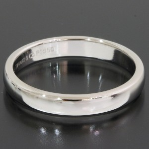 Tiffany & Co. Simple Platinum Wedding Ring Size 6