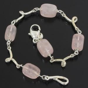 Tiffany & Co. Rose Sterling Silver Rose Quartz Bracelet