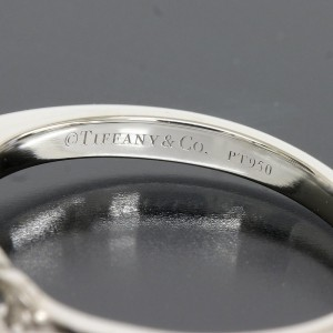 Tiffany & Co. Platinum Diamond Ring Size 4