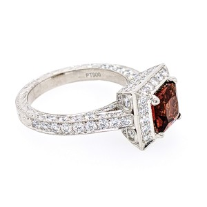 Jack Kelege KPR 423 Platinum Madeira Citrine & Diamonds Ring