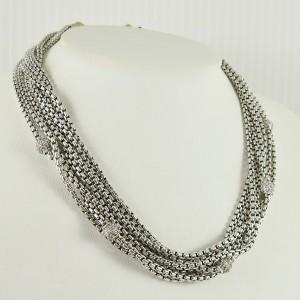 David Yurman Silver Ice  Sterling Silver 1.00tcw Diamond Necklace