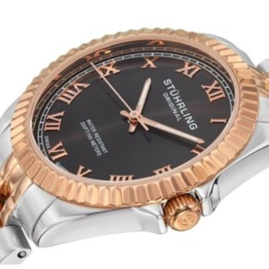 Stuhrling Coronet 599L.05 Rose & Silver-Tone Stainless Steel 35mm Watch