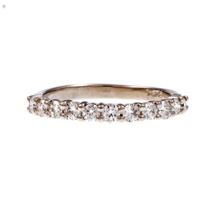 Peter Suchy Platinum with 0.55ct. Diamond Band Ring Size 6