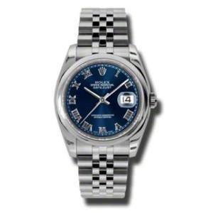 Rolex Datejust Steel Blue Roman Dial 36mm Watch