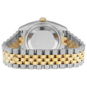 Rolex Datejust Steel and Yellow Gold Grey Sunbeam Dial 36mm Watch