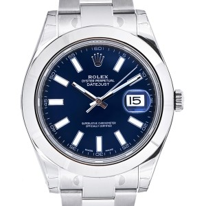 Rolex Datejust II Steel Blue Dial 41mm Watch