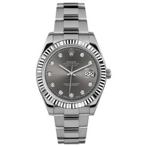 Rolex Rolex 41mm Datejust II Stainless Steel 116334 Custom Rhodium Diamond Custom Diamond 41mm 116334
