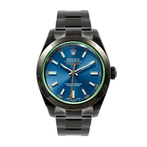 Rolex Blue Milgauss 116400 GV DLC-PVD 40mm Men's Watch