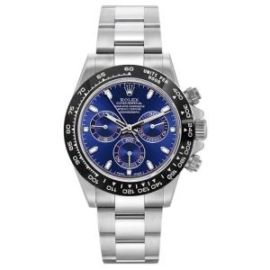 Rolex Rolex Pre Owned Steel Daytona 116520 Custom Blue Ceramic Custom Blue 40mm 116520