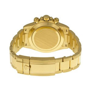 Rolex Daytona Yellow Gold Black Diamond Dial 40mm Watch