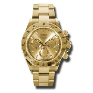 Rolex Daytona Yellow Gold Champagne Dial 40mm Watch