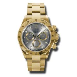 Rolex Daytona Yellow Gold Grey Dial 40mm Watch