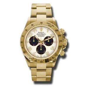 Rolex Daytona Yellow Gold Ivory Dial 40mm Watch
