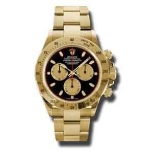 Rolex Daytona Yellow Gold Champagne Paul Newman Black Dial 40mm Watch