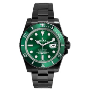 5b963e47487 Rolex Submariner 116610LV DLC-PVD Stainless Steel Green Ceramic Bezel Green  Dial Automatic 40mm Mens Watch