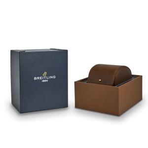 New Breitling Superocean 42 Orange Dial Black Rubber Men's Watch