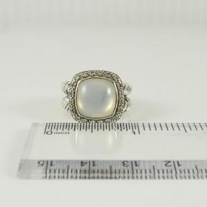 David Yurman Albion  Sterling Silver .26tcw Quartz, Diamond Ring